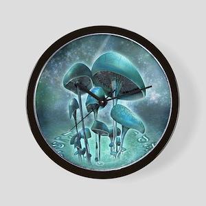 Mystic Mushrooms Wall Clock