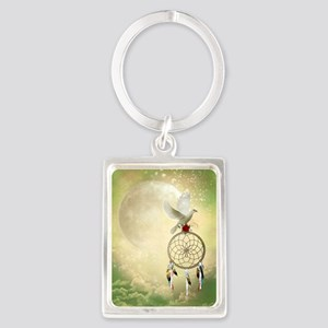 Dove Dreamcatcher Portrait Keychain