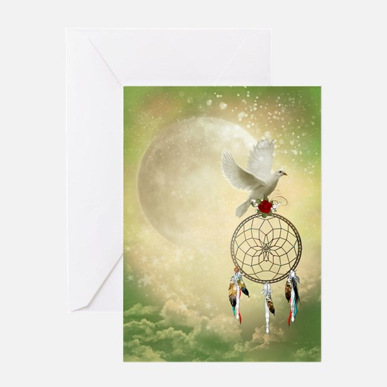 Dove Dreamcatcher Greeting Card