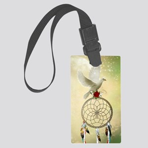 Dove Dreamcatcher Large Luggage Tag