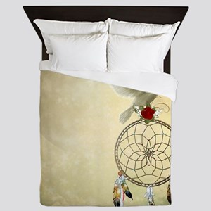 Dove Dreamcatcher Queen Duvet