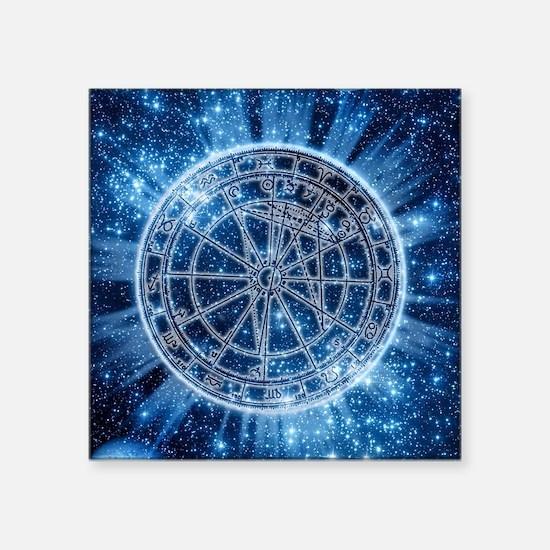 """Mystical Zodiac Square Sticker 3"""" x 3"""""""