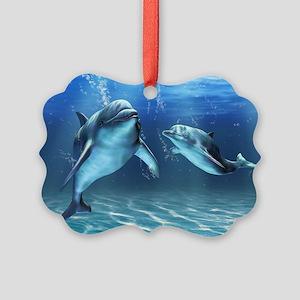 Dolphin Dream Picture Ornament