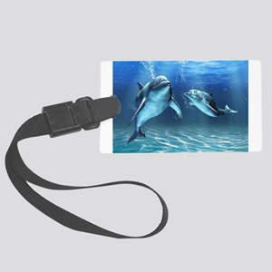 Dolphin Dream Large Luggage Tag