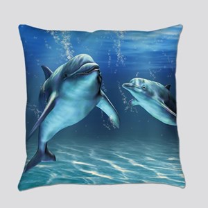 Dolphin Dream Everyday Pillow
