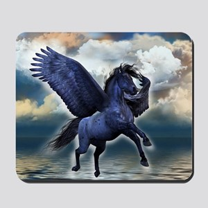 Black Pegasus Mousepad