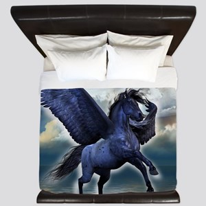 Black Pegasus King Duvet