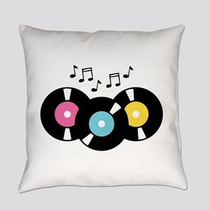 Music Records Notes Everyday Pillow