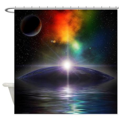 Deep Space Fantasy Shower Curtain