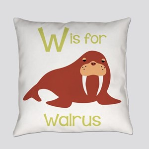 W Is For Walrus Everyday Pillow