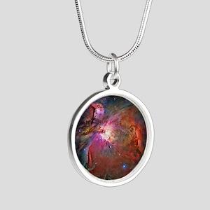 Orion Nebula Silver Round Necklace