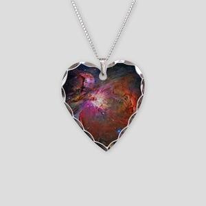 Orion Nebula Necklace Heart Charm