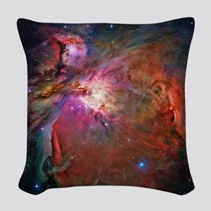 Orion Nebula Woven Throw Pillow