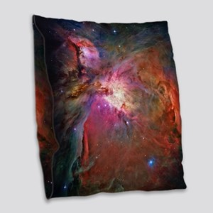Orion Nebula Burlap Throw Pillow