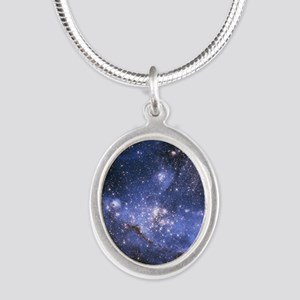 Magellan Nebula Silver Oval Necklace