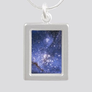 Magellan Nebula Silver Portrait Necklace