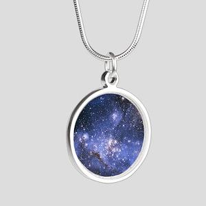 Magellan Nebula Silver Round Necklace