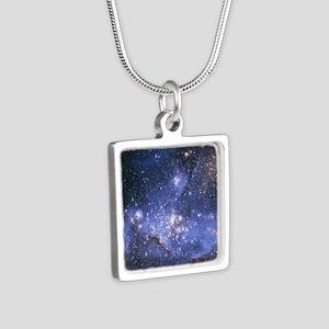 Magellan Nebula Silver Square Necklace