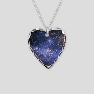 Magellan Nebula Necklace Heart Charm