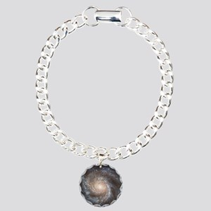 Spiral Galaxy (M101) Charm Bracelet, One Charm