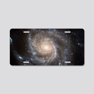 Spiral Galaxy (M101) Aluminum License Plate