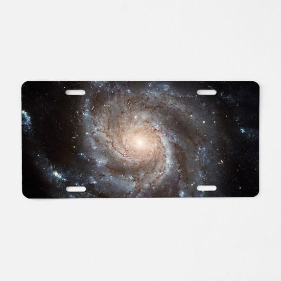 Spiral Galaxy (M101) Aluminum License Plate
