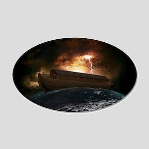 Noahs Ark 20x12 Oval Wall Decal