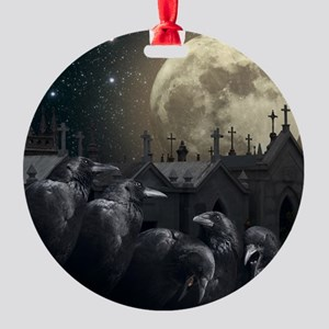 Gothic Crows Round Ornament