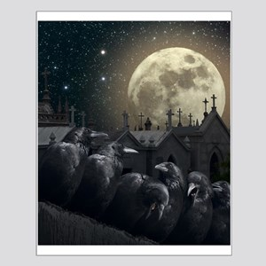 Gothic Crows Small Poster