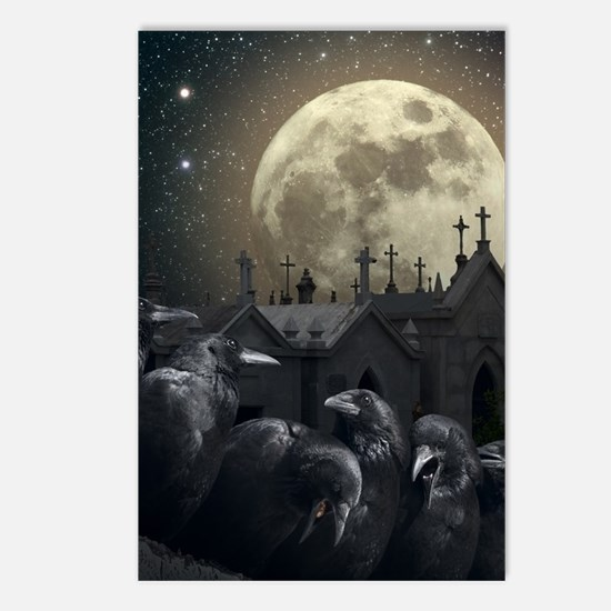 Gothic Crows Postcards (Package of 8)