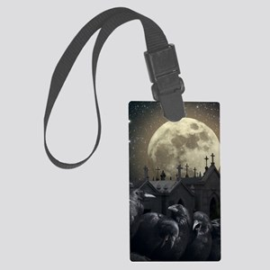 Gothic Crows Large Luggage Tag