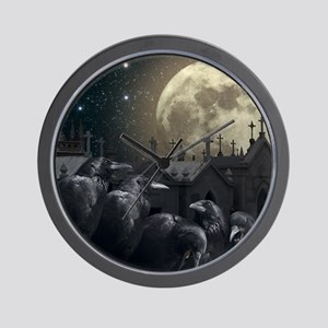 Gothic Crows Wall Clock