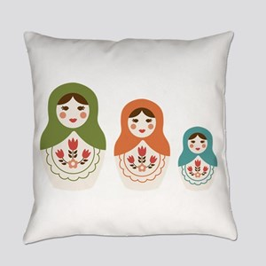 Matryoshka Russian Dolls Everyday Pillow