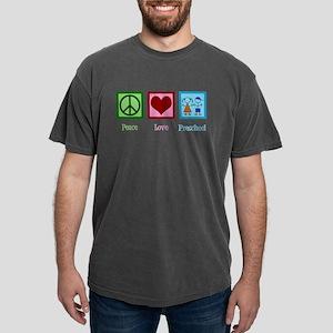 Peace Love Preschool Mens Comfort Colors Shirt
