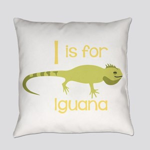 I Is For Iguana Everyday Pillow