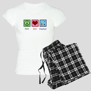 Peace Love Preschool Women's Light Pajamas