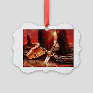 Excalibur Sword Picture Ornament