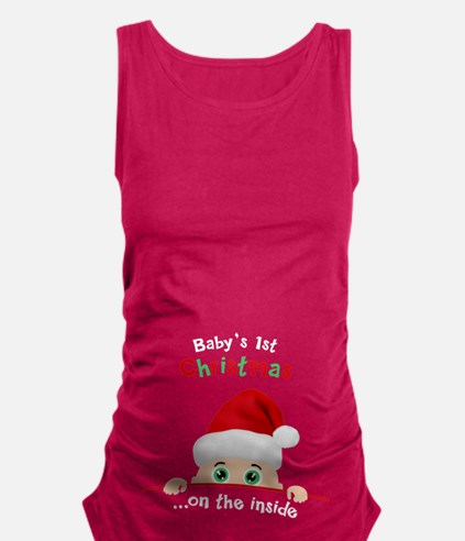 1st Christmas Maternity Tank Top