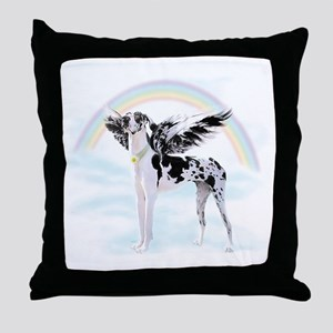 Harlequin Great Dane Angel RB Throw Pillow