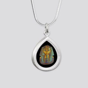 King Tut Silver Teardrop Necklace