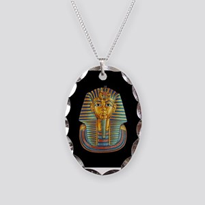 King Tut Necklace Oval Charm