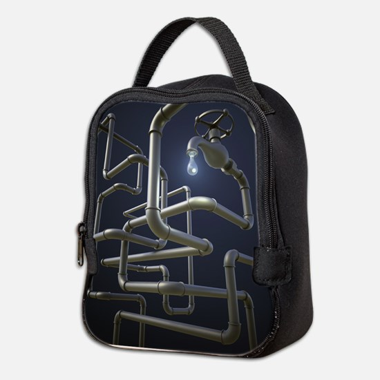 Water Pipeline Maze Neoprene Lunch Bag