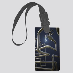 Water Pipeline Maze Large Luggage Tag