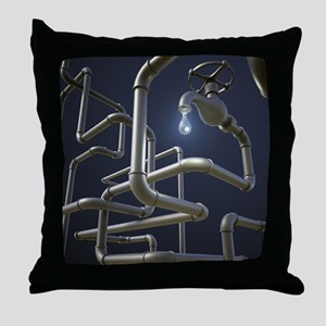 Water Pipeline Maze Throw Pillow