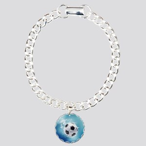 Soccer Water Splash Charm Bracelet, One Charm