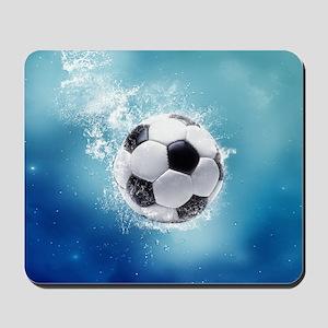 Soccer Water Splash Mousepad