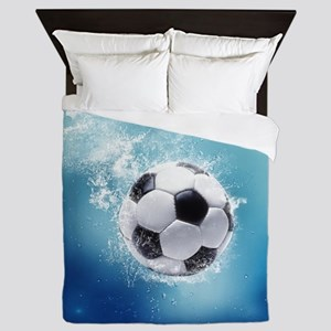 Soccer Water Splash Queen Duvet