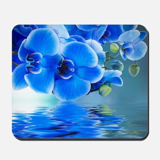 Blue Orchids Mousepad