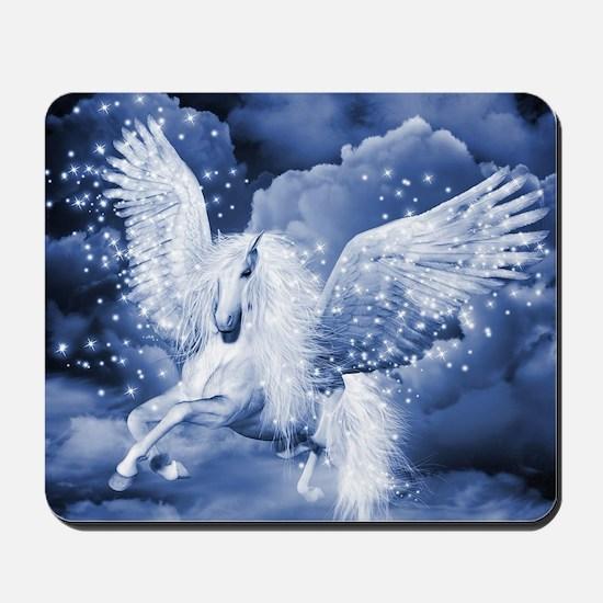 Sparkling White Pegasus Mousepad