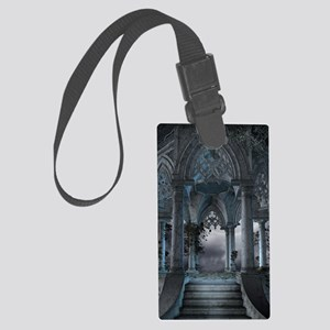 Gothic Mausoleum Large Luggage Tag